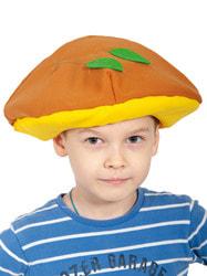 Фото Шапочка-маска Гриб маслёнок детская