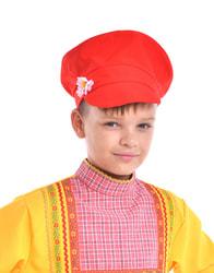 Фото Картуз Красный универсальный детский