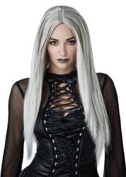 Фото Серый парик с прямыми волосами