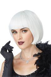 Фото Белый парик Чикаго в стиле 20-х
