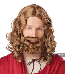 Фото Парик Иисус с бородой взрослый