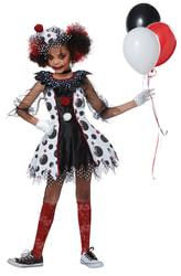 Фото Костюм девочка-клоун из кошмаров детский