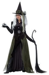 Фото Костюм ведьмы с юбкой-плащём взрослый