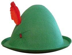 Фото Шляпа Питера Пена зелёная с пером