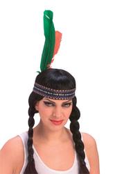 Фото Парик Индианка с косами женский