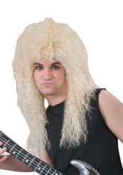 Фото Парик Рок-звезда 80-х блонд взрослый