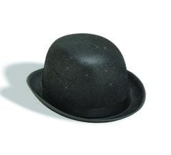 Фото Черная шляпа Дерби с блёстками взрослая