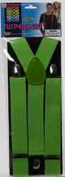 Фото Подтяжки взрослые зелёный неон