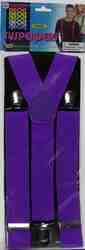 Фото Подтяжки взрослые фиолетовые