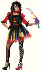 Фото Костюм Клоунесса разноцветная взрослый