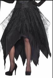 Фото Юбка ведьмы взрослая чёрная