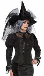 Фото Блузка готическая для ведьмы взрослая