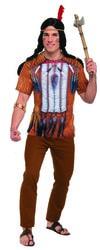 Фото Костюм Индеец (футболка с 3D принтом) взрослый