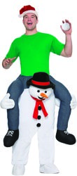 Фото Костюм Верхом на снеговике взрослый