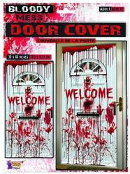 Фото Декорация для Хэллоуина Кровавая дверь