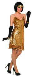 Фото Золотое платье в стиле Чикаго женское