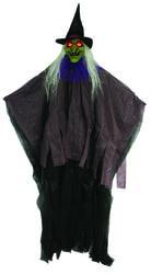 Фото Декорация Ведьма для Хэллоуина с подсветкой (165 см)