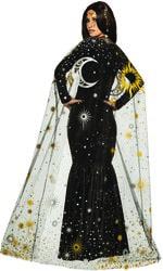 Фото Плащ полупрозрачный Солнце, Луна и звёзды
