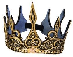 Фото Корона королевская на резинке золотая