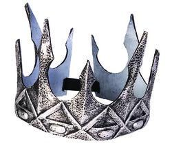 Фото Корона королевская на резинке серебряная