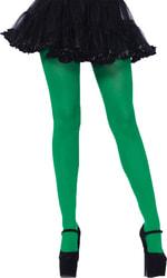 Фото Колготки зеленые женские