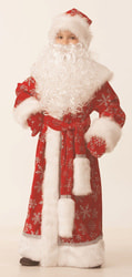 Фото Костюм Дед Мороз (велюр) красный детский
