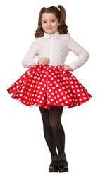 Фото Карнавальная юбка в горошек детская