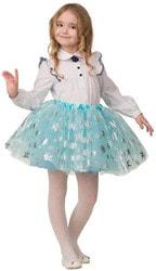 Фото Карнавальная юбка голубая детская