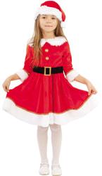 Фото Костюм Мисс Санта в платье детский