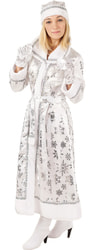 Фото Костюм Снегурочка с варежками взрослый