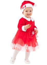 Фото Костюм Мисс Санта для малышей детский