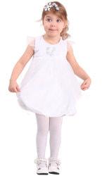 Фото Костюм Снежинка в платье белая детский