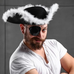 Фото Карнавальная шляпа Треуголка пирата