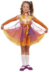 Фото Карнавальный костюм детский Фея Стрекоза оранжевый
