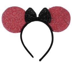 Фото Карнавальный ободок Мышка красные ушки