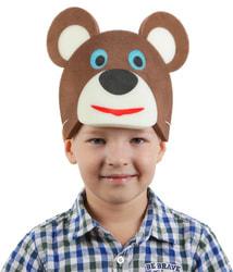 Фото Карнавальная шляпа Медведь на резинке