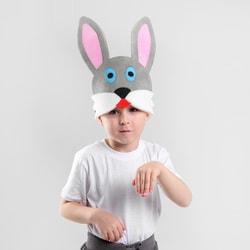 Фото Карнавальная шляпа Заяц на резинке