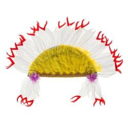 Фото Головной убор индеец бело-желтый