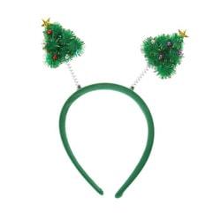 Фото Карнавальный ободок Елочки зеленый