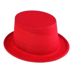 Фото Карнавальный цилиндр красный