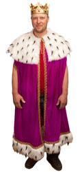 Фото Карнавальный костюм взрослый Королевская мантия малиновый