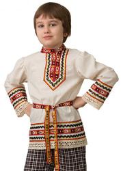 Фото Рубашка вышиванка славянская детская