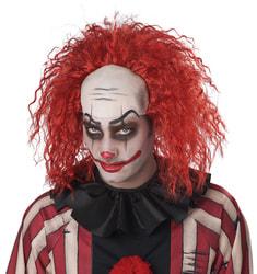 Фото Парик клоуна красный с лысиной