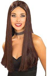 Фото Парик коричневый длинные волосы женский