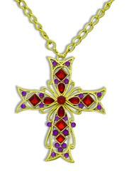 Фото Ожерелье готический крест