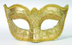 Фото Маска карнавальная золотая взрослая
