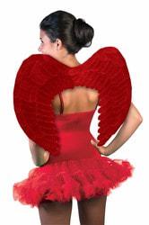 Фото Крылья красные взрослые 58 см