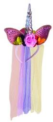 Фото Ободок единорога с цветком взрослый