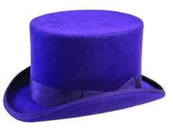 Фото Цилиндр фиолетовый люкс взрослый