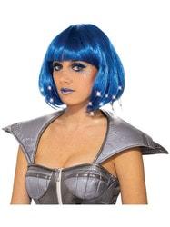 Фото Парик синий женский с подсветкой взрослый